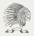 native american indian chief headdress indian vector image