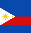 philippines flag icon in flat style national sign vector image