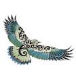 polynesian style bird tattoo vector image vector image