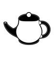 porcelain tea jug vector image vector image