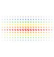 prenatal spectral halftone effect vector image