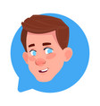 profile icon male head in chat bubble isolated vector image vector image