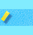 rubber raft floating on water vector image vector image