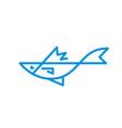 sea fish - logo template concept vector image