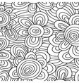 Seamless floral monochrome pattern For vector image vector image