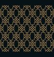 seamless pattern elegant linear ornament vector image