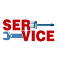 service with a tool vector image