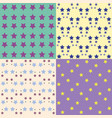 set of background patterns vector image vector image