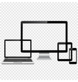 Set of modern digital devices mockup vector image vector image