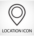 simple location map pointer icon vector image