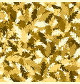 simple pattern gold leaves vector image