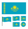 simplified flag of kazakhstan for a small size vector image