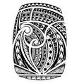 sleeve tattoo in polynesian ethnic style vector image