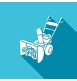 Snowblower icon vector image vector image