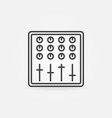 sound mixer concept music icon in thin line vector image