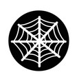 spider web icon design vector image