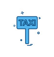 taxi board icon design vector image