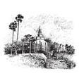 temple in cevlon sanctum sanctorum vintage vector image vector image