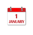 The first day Newyear Day Calendar Icon vector image vector image
