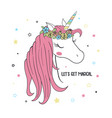 unicorn for kids vector image vector image