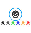 valid seal rounded icon vector image vector image
