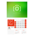wall calendar template for 2018 year march design vector image