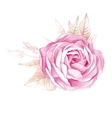 watercolor rose flower isolated vector image vector image