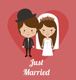Wedding design over pink background vector image