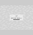 white and gray brick wall background texture vector image vector image