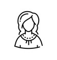 woman - line design single isolated icon vector image vector image