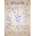 Abstract floral ornament set vector image