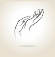 female hands vector image