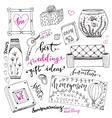 Wedding gift ideas set Cartoon doodle vector image