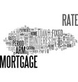 adjustable vs fixed rate mortgages text word vector image vector image
