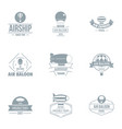 airborne logo set simple style vector image vector image