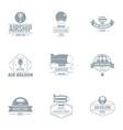 airborne logo set simple style