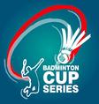 Badminton Cup Series vector image vector image