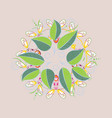 beautiful watercolor leaves bright painting vector image vector image