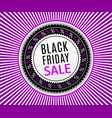 black friday sale banner advertising poster vector image vector image