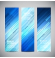 blue low poly vertical banners set vector image vector image