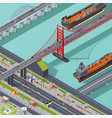 bridges isometric composition vector image vector image