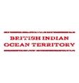 British Indian Ocean Territory Watermark Stamp vector image vector image