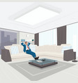 businessman resting in living room vector image