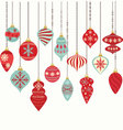 Christmas Ornaments Decorations vector image vector image