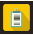 Clipboard with blank checklist form icon vector image