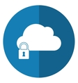 cloud data security system technology shadow vector image vector image