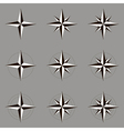 Collection of icons wind rose vector image vector image