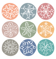 cute doodle snowflakes set vector image vector image