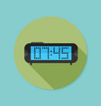 digital clock flat icon with long shadow eps10 vector image
