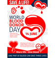 donate blood and save life medical banner design